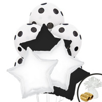 Black & White Balloon Bouquet 2