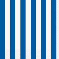 Royal Blue Stripe Lunch Napkins