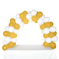 Celebration Tabletop Balloon Arch-White & Gold
