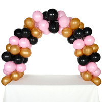 Celebration Tabletop Balloon Arch-Gold, Black & Pink