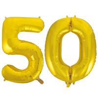 Jumbo Gold Foil Balloons-50
