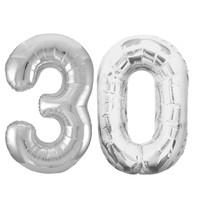 Jumbo Silver Foil Balloons-30