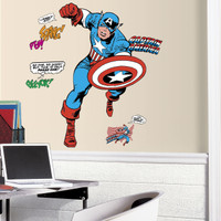 Captain America Comic Wall Decals