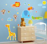 Jungle Zoo Animal Safari Home Room Decor Removable Wall/Locker/Door/Decal Kids/Children