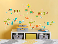 Dinosaur Friends Theme Prehistoric Home Room Decor Removable Wall/Locker/Door/Decal Kids/Children