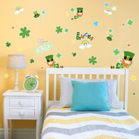 Green Irish Leprechaun St. Patrick's Home Room Decor Removable Wall/Locker/Door/Decal Kids/Children