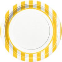 Yellow Stripe Dinner Plates