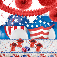 Vintage Patriotic Flag Deco Kit