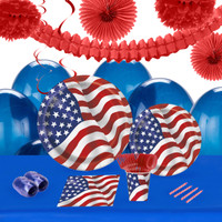 Patriotic USA Flag 16 Guest Party Pack 2