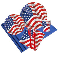 Patriotic USA Flag 24 Guest Party Pack