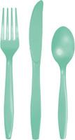 Mint Plastic Cutlery Assortment (8 each)