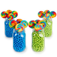 Blue & Lime Green Mason Jar Candy Décor Kit