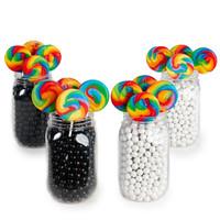 Black & White Mason Jar Candy Décor Kit