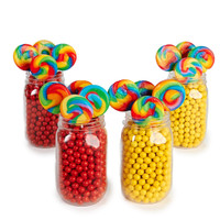 Red & Yellow Mason Jar Candy Décor Kit