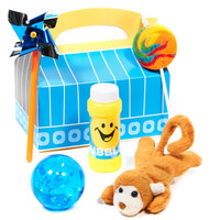 Fun at One Boy Filled Favor Box
