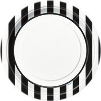 Black Stripe Dinner Plates