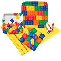 Building Block Party 16 Guest Party Pack