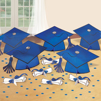 Graduation Table Decorating Kit - Blue