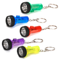 Large Plastic Flashlight Keychain