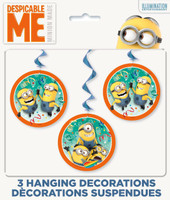 Minions Despicable Me - Hanging Swirl Decorations