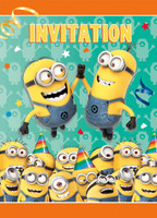 Minions Despoicable Me - Invitations