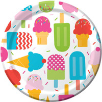 Ice Cream Party Dinner Plates