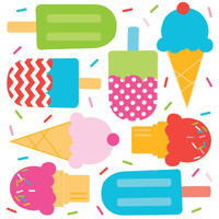 Ice Cream Party Plastic Tablecover