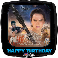 Star Wars VII Happy Birthday Foil Balloon