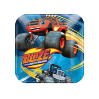 Blaze and the Monster Machines Square Dessert Plates