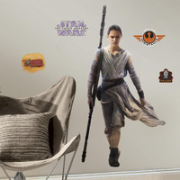 Star Wars VII Rey Giant Wall Decal