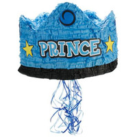 "Prince Crown 13"" Pull-String Pinata"