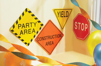 "Construction 7"" Traffic Signs"