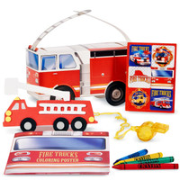 Fire Trucks Party Favor Box
