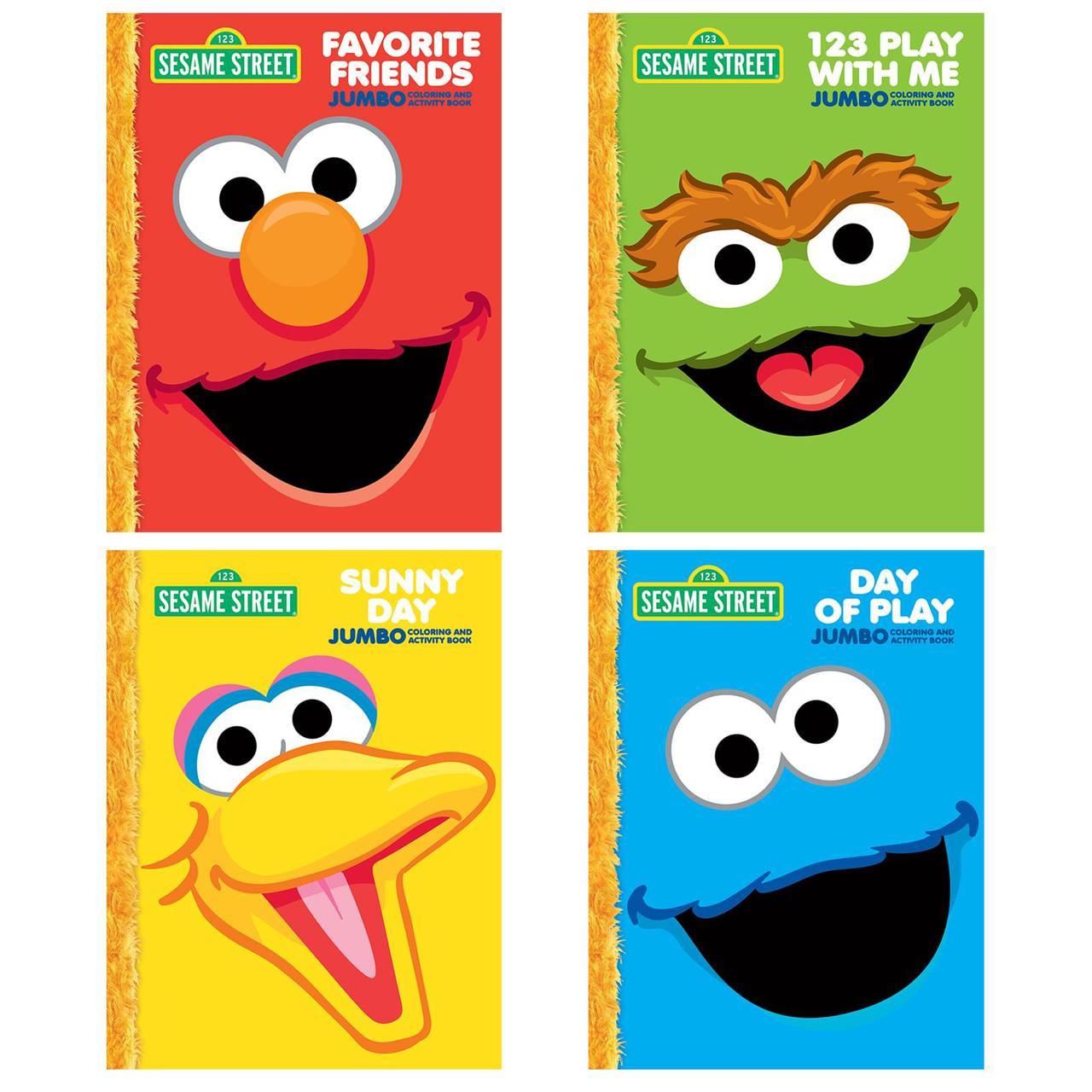Elmo Happy Birthday Jumbo Coloring Book