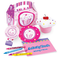 Girl's Lil' Cupcake 2nd Party Favor Box