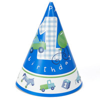 Boy's Little 1 Birthday Cone Hats