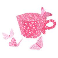 Tea Cup Empty Favor Boxes
