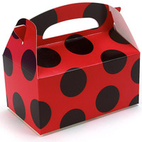 Red with Black Dots Empty Favor Boxes