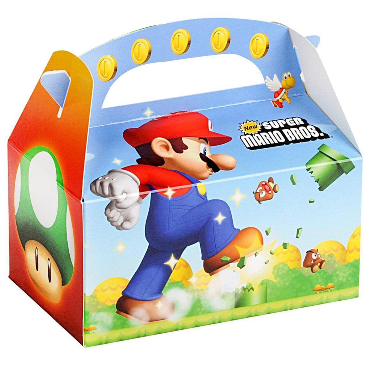 Super Mario Bros  Empty Favor Boxes
