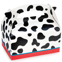 Cow Print Empty Favor Boxes