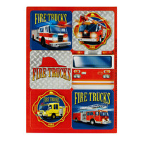 Fire Trucks Sticker Sheets
