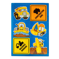 Construction Pals Sticker Sheets