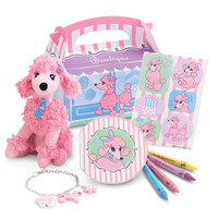 Pink Poodle in Paris Party Favor Box