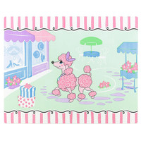 Pink Poodle in Paris Activity Placemats