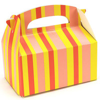 Orange Striped Empty Favor Boxes