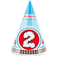 Two-Two Train 2nd Birthday Cone Hats