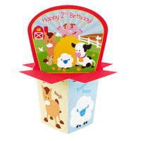 Barnyard 2nd Birthday Centerpiece