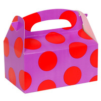 Purple with Red Dots Empty Favor Boxes