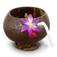 Coconut Cup with Straw