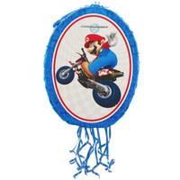 "Mario Kart Wii Mario and Luigi 18"" Pull-String Pinata"